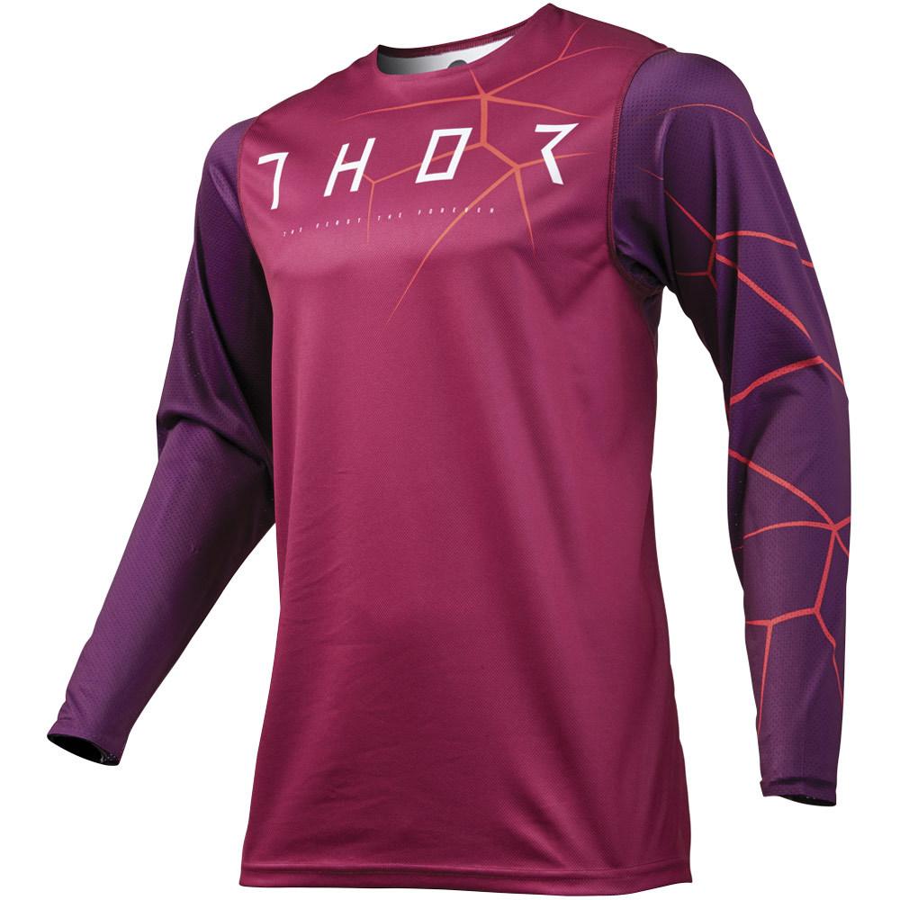 Thor - 2019 Prime Pro Infection Maroon/Orange джерси, фиолетово-оранжевое