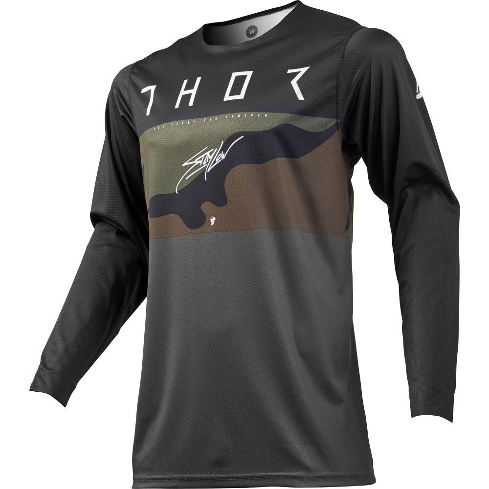 Thor - 2019 Prime Pro Fighter Charcoal/Camo джерси, серый камуфляж