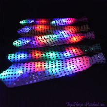 Светящийся карнавальный галстук, Цвет: Розовый