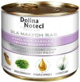 DOLINA NOTECI PREMIUM для собак мелких пород с кроликом, коричневым рисом и фасолью 185г