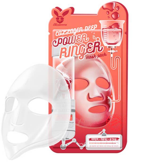 Тканевая маска для лица с Коллагеном Elizavecca COLLAGEN DEEP POWER Ringer mask pack, 23мл