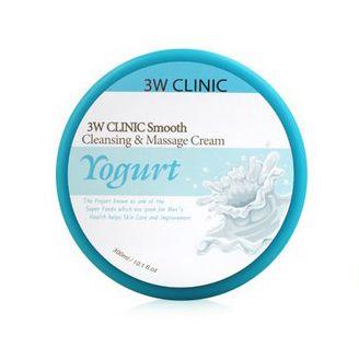 [3W CLINIC] Очищающий и массажный крем д/лица ЙОГУРТ Smooth Cleansing&Massage Cream (Yogurt), 300мл