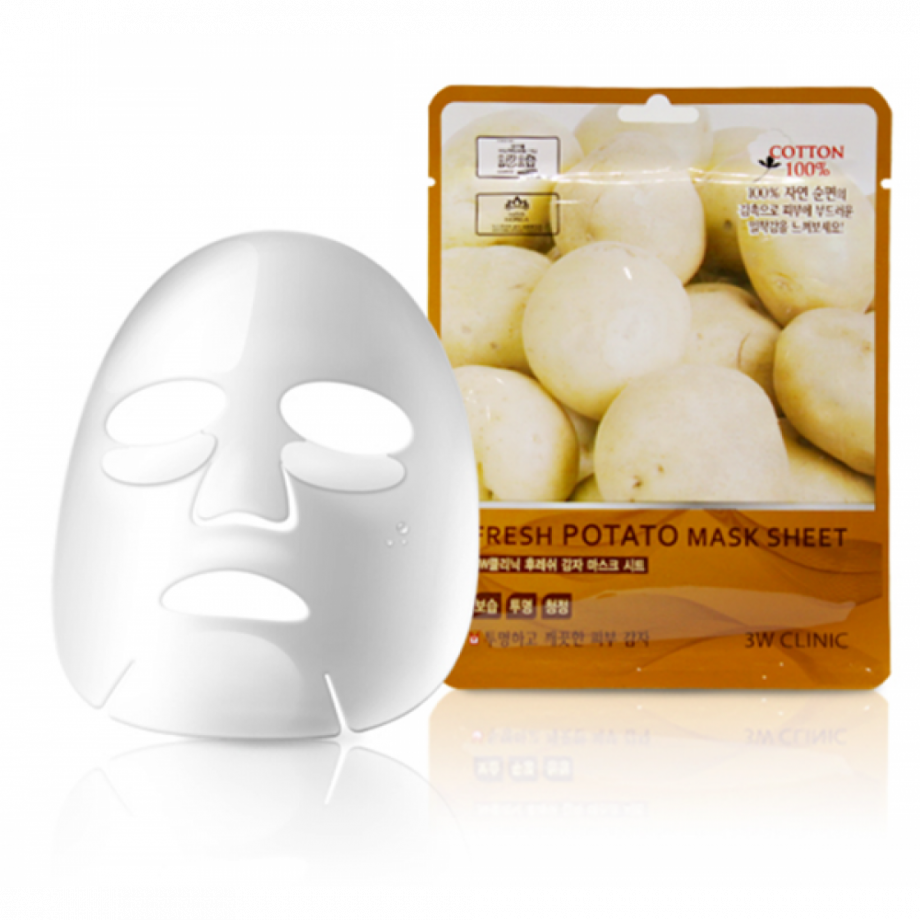 """Тканевая маска для лица КАРТОФЕЛЬ 3W CLINIC """"Fresh Potato Mask Sheet"""""""