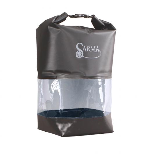 Баул водонепроницаемый SARMA с прозрачной вставкой 10л. С 007-1