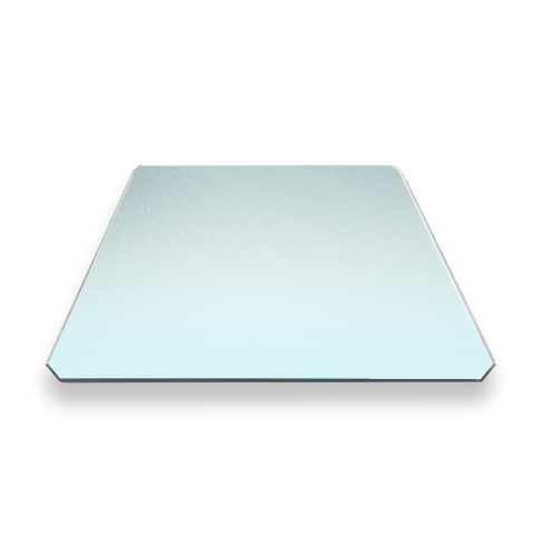 Стекло для стола 3D принтера, шлифованное, без углов, 4 мм