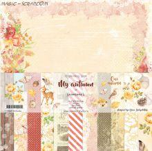 """Набор двусторонней  бумаги """"My autumn"""" 30*30 см"""