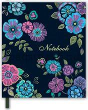 Книжка зап.Феникс+ 14,5х16,5см Яркие цветы 192стр.линейка 45729