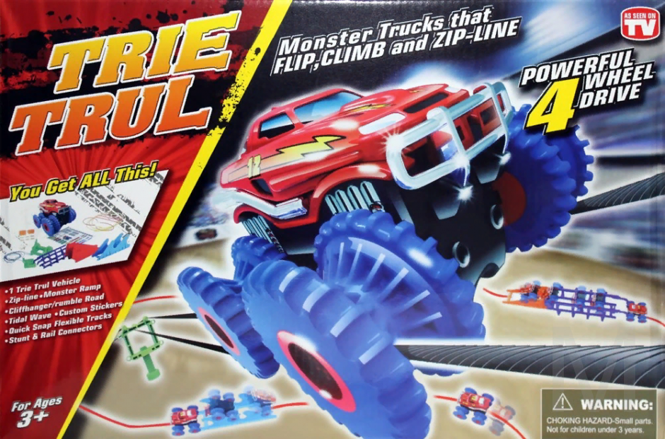 Канатный трек Монстр-трак с одной машинкой Trie Trul