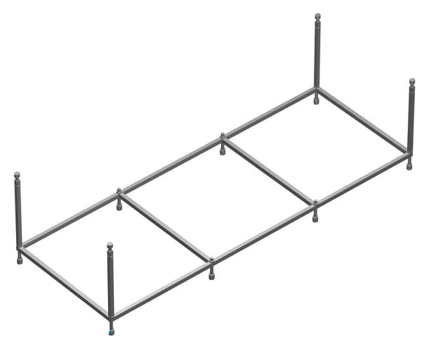 Монтажный набор для ванны 150x70 Roca Easy ZRU9302906