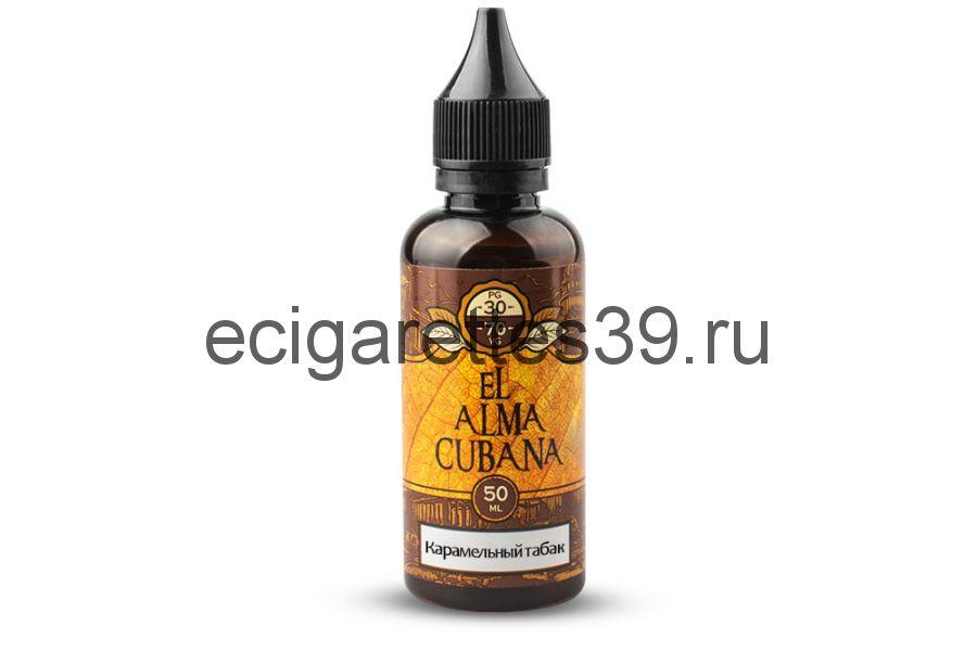 Жидкость EL Alma CUBANA Карамельный табак, 50 мл.