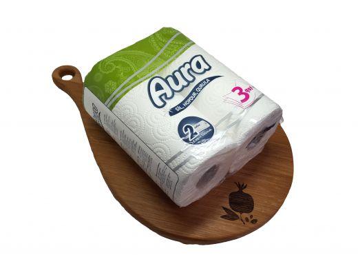 Кухонные полотенца Aura 2 рулона