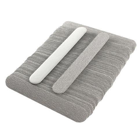 Запасные листы абразива для металлической пилочки 180х18 мм 50 шт абразивность 150  Сменные файлы