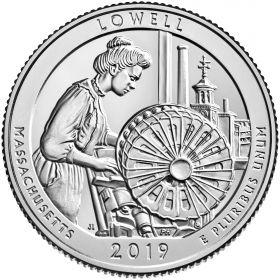 Национальный исторический парк Лоуэлл(Массачусетс) 25 центов США 2019 Двор на выбор