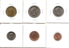 Фауна набор 6 монет Фиджи 2009