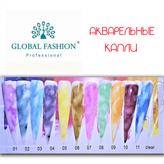 Акварельные краски (капли) Глобал Фэшн 10 мл коричневый 6
