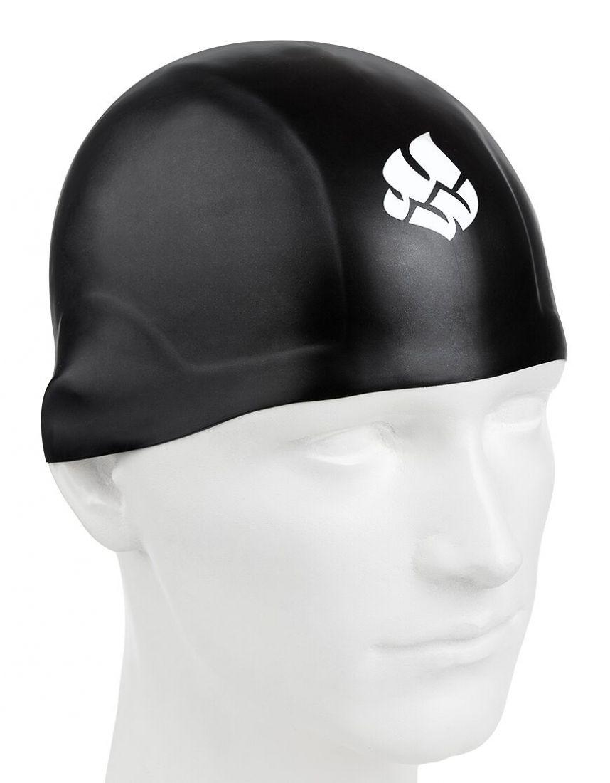 Шапочка для плавания силиконовая Mad Wave R-CAP FINA Approved (черная)