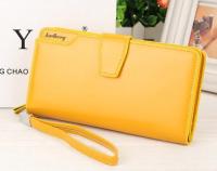 Кошелёк WOMAN BAELLERRY WALLET PU CLUTCH BAG, Цвет: Жёлтый