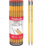 Чернографитный шестигранный карандаш с ластиком ErichKrause, HB (арт. 32836)