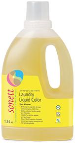 Sonett Жидкое средство для стирки цветных тканей Мята и Лимон 1,5 л