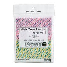 WELL-CLEAN SCRUBBER 2PC  Скруббер для мытья посуды набор ( 15 х 13 ) 2шт