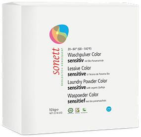Sonett Стиральный порошок для цветных тканей Sensitive для чувствительной кожи 10 кг