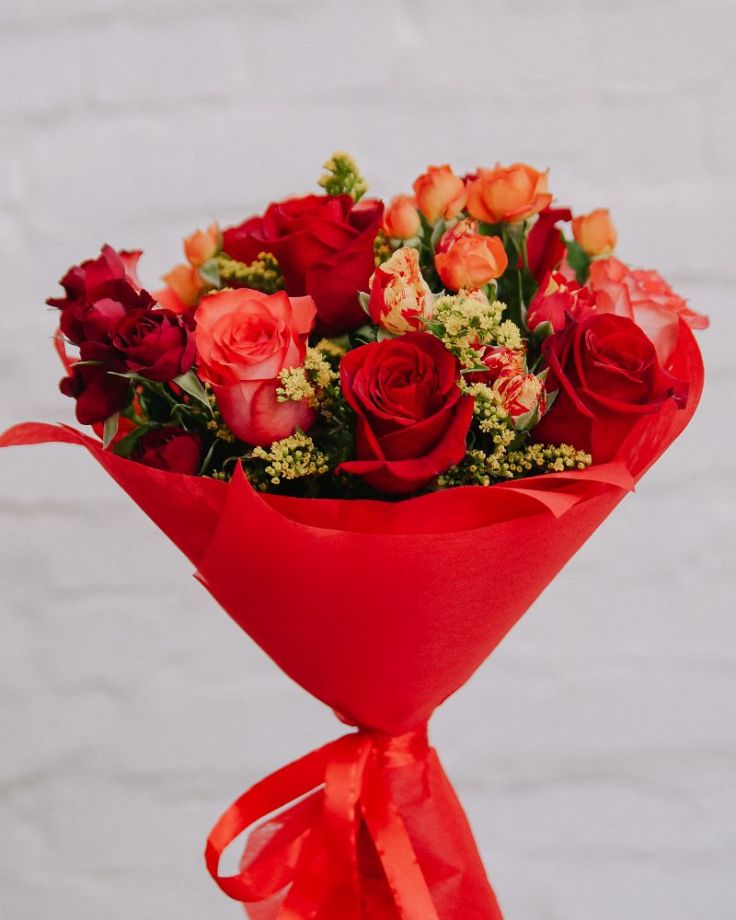 "Букет цветов ""Кардинал"""