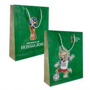 Большой пакет подарочный 34*28*9 см, 128 гр бум. матовый зеленый, ручка-шнурок (арт. Т11469)