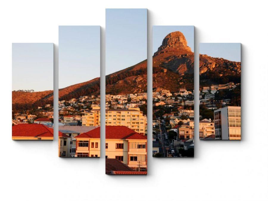 Модульная картина Город в горах