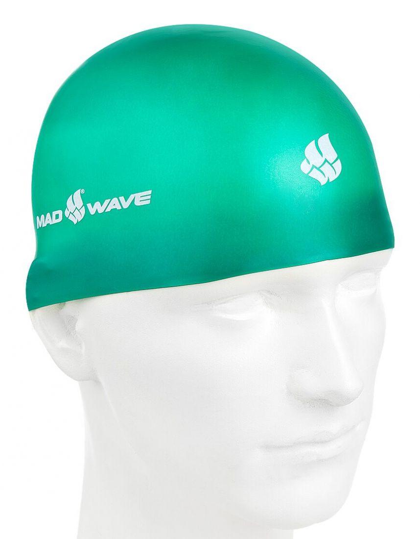 Шапочка для плавания силиконовая Mad Wave SOFT (зеленая)