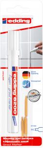 Маркер для затирки плиточных швов EDDING 8200, 2-4 мм, запасные наконечники, белый, E-8200/49