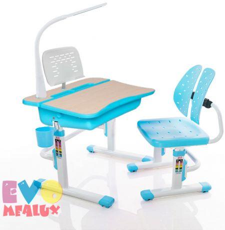 Комплект Mealux EVO-03 L: парта + стульчик + лампа