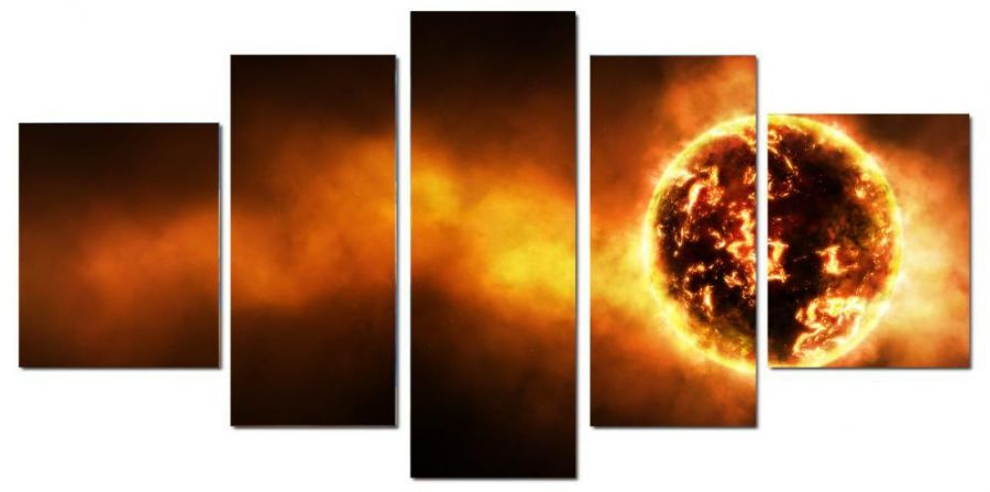 Модульная картина Пылающая звезда