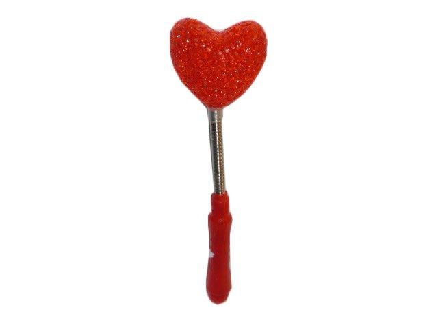 Светящаяся Волшебная палочка с наконечником сердечко (красная)