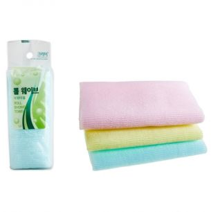 """SB"" CLEAN&BEAUTY ROLL WAVE SHOWER TOWEL  Мочалка для душа (28х95) 1шт"