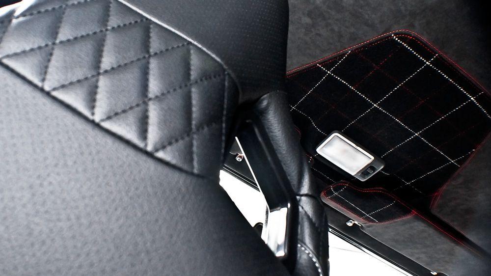 Обшивка солнцезащитных козырьков (Land Rover Defender)