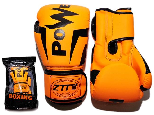 Перчатки бокс  кожзам. размер 14 унц, ZTTY, артикул 29092