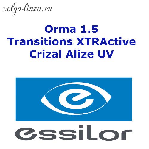 Essilor Orma 1.5 Transitions XTRActive  Crizal Alize UV- фотохром, работающий в автомобиле