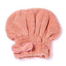 Мягкая махровая шапочка для быстрой сушки волос, Персиковый
