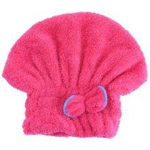 Мягкая махровая шапочка для быстрой сушки волос, Тёмно-розовый