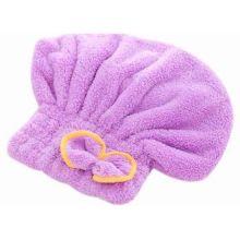Мягкая махровая шапочка для быстрой сушки волос, Сиреневый