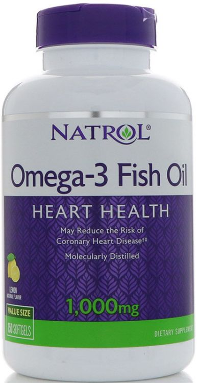 Natrol Omega-3 Fish Oil 150 капсул_