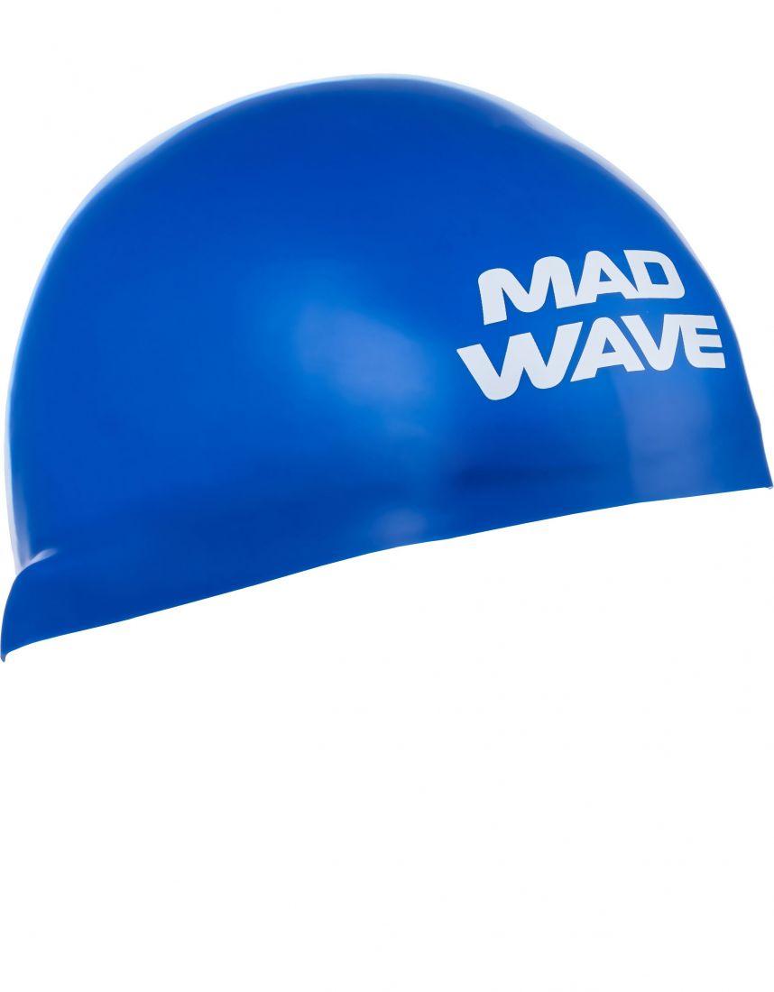 Шапочка для плавания силиконовая Mad Wave D-CAP (синяя)
