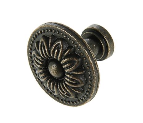 Ручка-кнопка Винтаж №004, цвет бронза, 3 см