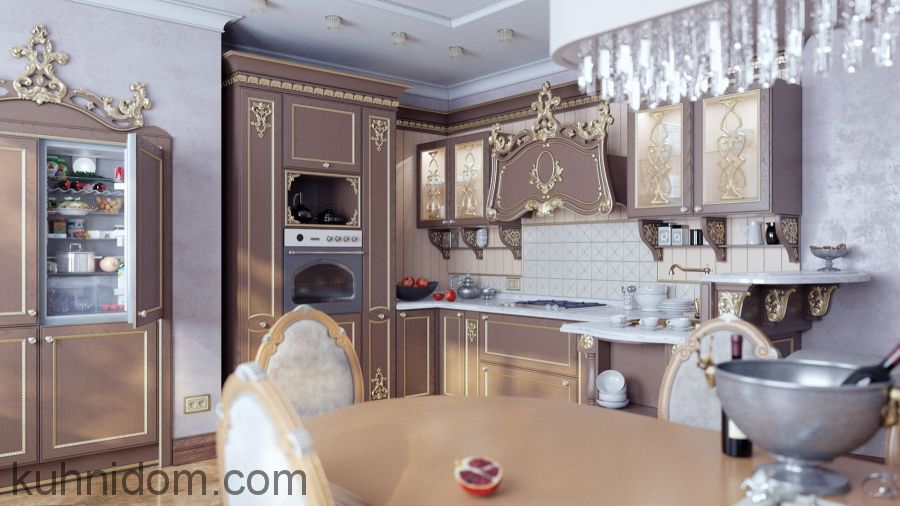 Кухня Тиффани Золото