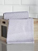 Полотенце махровое жаккард  DAMA  40*60 см. (серый)   Арт.3168-7