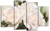 Модульная картина Букет из белых роз