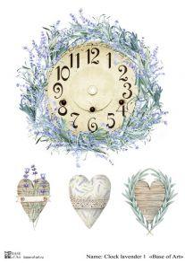 Clock lavender 1