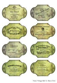 Vintage label 14