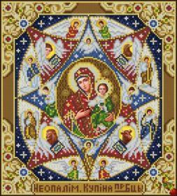 """Феникс. Икона Божией матери """"Неопалимая купина"""". А-3 (набор 1425 рублей)"""