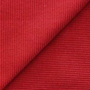 Лоскут трикотажной ткани кашкорсе Красный 50*30
